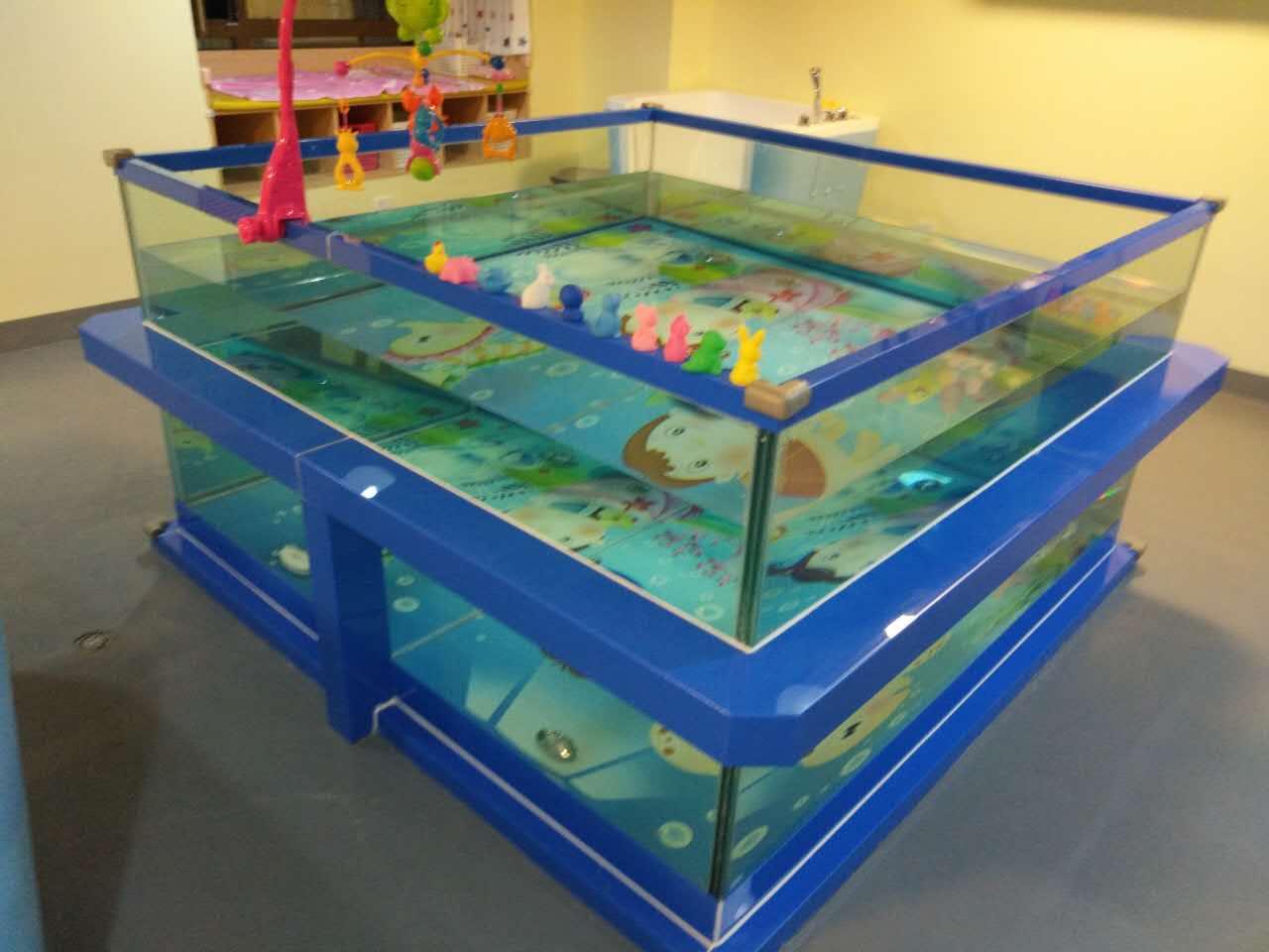 (定制)新款包边方形玻璃游泳池
