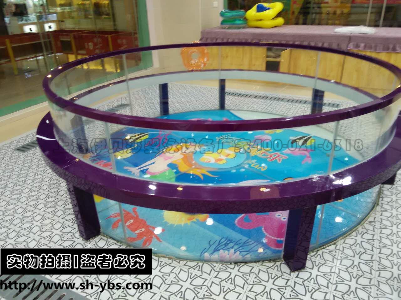 (定制)新款包边圆形玻璃游泳池(多包边色)