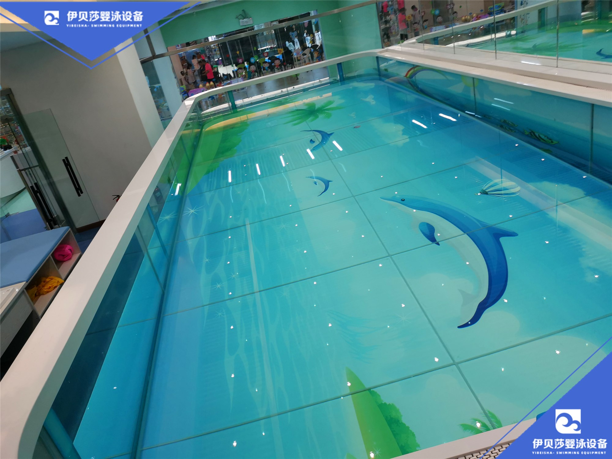 伊贝莎新款亲子玻璃游泳池源头厂家