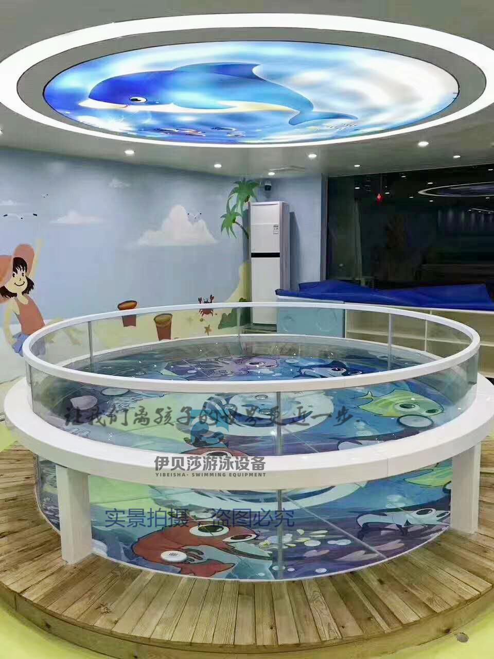 新款包边圆形玻璃游泳池(多包边色)